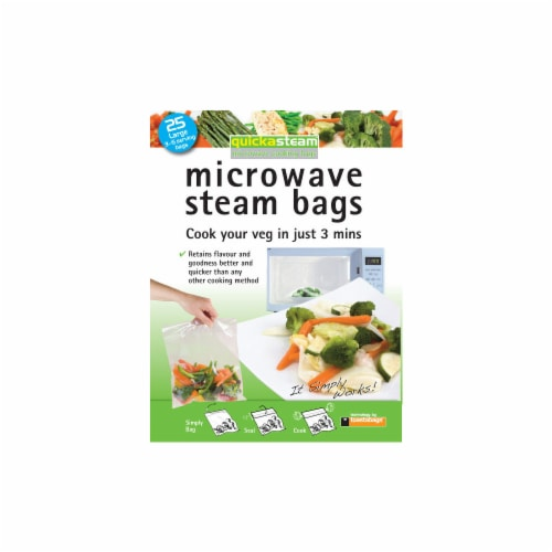 Quickasteam Large Microwave Steam Bags Perspective: front
