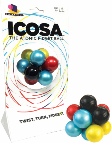 Brainwright Icosa The Atomic Fidget Ball Perspective: front