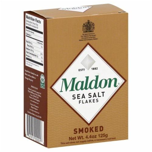 Maldon Smoked Sea Salt Flakes Perspective: front