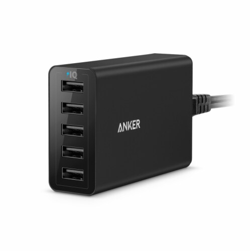 Anker PowerPort 40W USB Charger Perspective: front