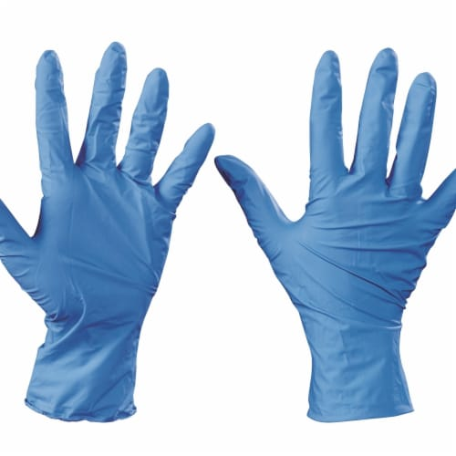 TNT GLV2008XL Ansell Nitrile Gloves, Blue - Extra Large - Case of 100 Perspective: front