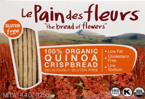 Le Pain des fleurs  Organic Crispbread Gluten Free   Quinoa Perspective: front