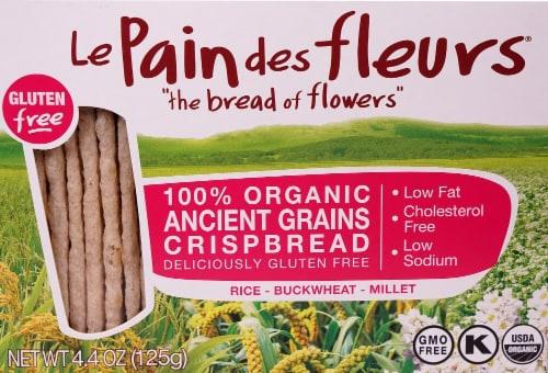 Le Pain des fleurs  Organic Crispbread Gluten Free   Ancient Grains Perspective: front
