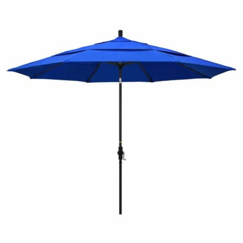 California Umbrella 11' Patio Umbrella in Pacific Blue Perspective: front