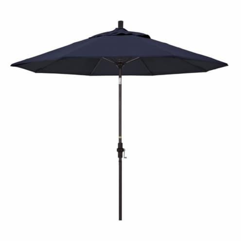 California Umbrella 9' Patio Umbrella in Navy Perspective: front