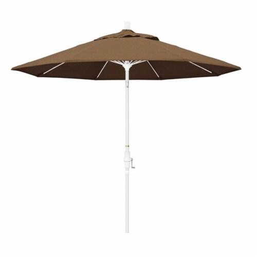 California Umbrella 9' Patio Umbrella in Teak Perspective: front