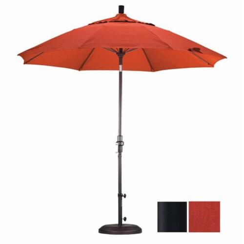 California Umbrella 9' Patio Umbrella in Tuscan Perspective: front