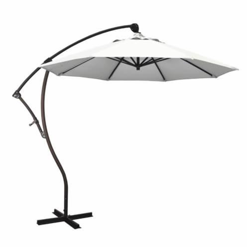 California Umbrella 9' Cantilever Umbrella in Natural Perspective: front