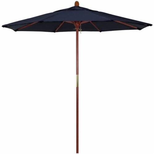 California Umbrella 7.5' Grove Sunbrella Push Lift Patio Umbrella in Navy Perspective: front