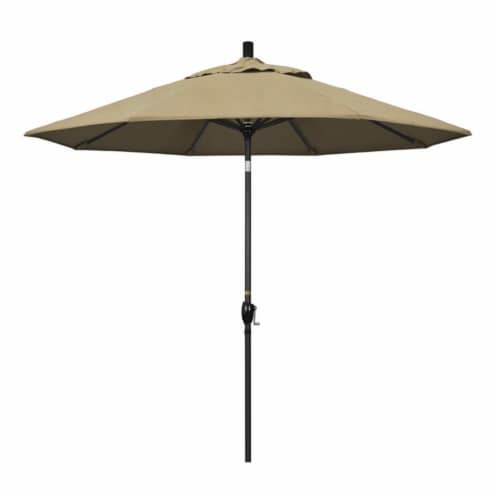 California Umbrella 9' Patio Umbrella in Heather Beige Perspective: front