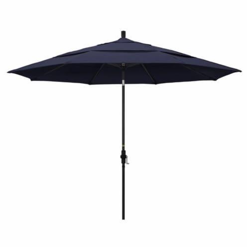 California Umbrella 11' Patio Umbrella in Navy Blue Perspective: front