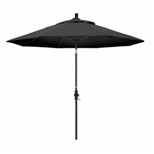 9' Patio Umbrella in Black - California Umbrella Perspective: front