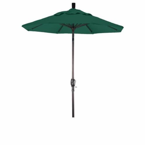 6' Patio Umbrella in Forest Green - California Umbrella Perspective: front