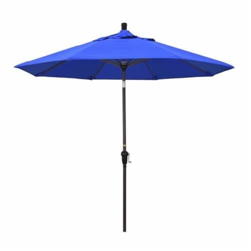 California Umbrella 9' Patio Umbrella in Pacific Blue Perspective: front