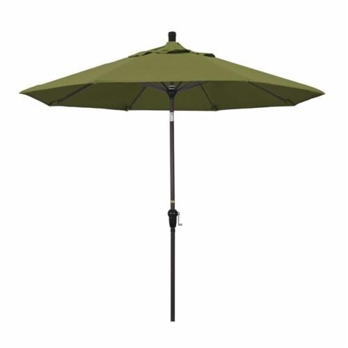 California Umbrella 9' Patio Umbrella in Palm Perspective: front