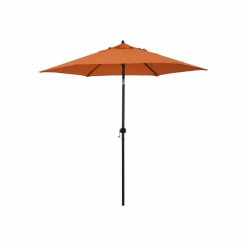 Astella ECO906D709-P17 9 ft Steel Market Umbrella with Push Tilt, Polyester - Tuscan Perspective: front