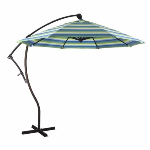 California Umbrella 9' Cantilever Umbrella in Seville Seaside Perspective: front