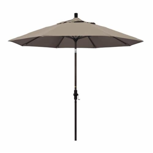 California Umbrella 9' Patio Umbrella in Taupe Perspective: front
