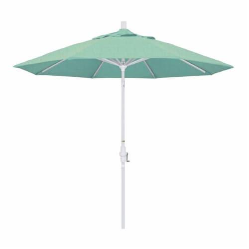 California Umbrella 9' Patio Umbrella in Spectrum Mist Perspective: front