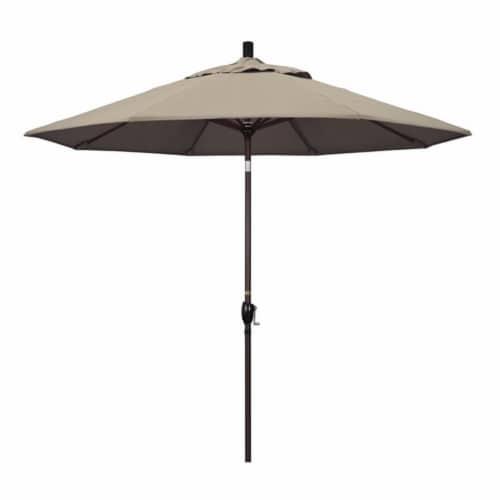 9' Patio Umbrella in Taupe - California Umbrella Perspective: front