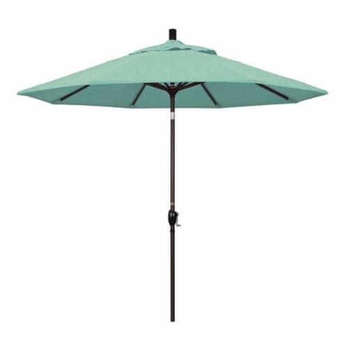 9' Patio Umbrella in Spectrum Mist - California Umbrella Perspective: front