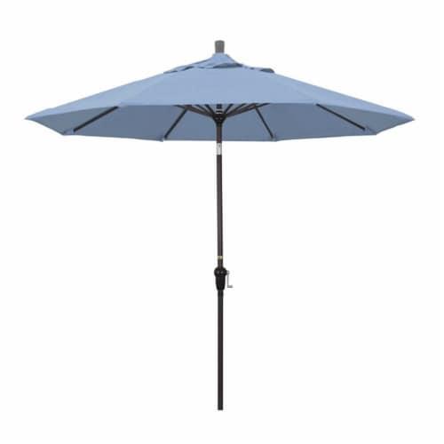 California Umbrella 9' Patio Umbrella in Air Blue Perspective: front