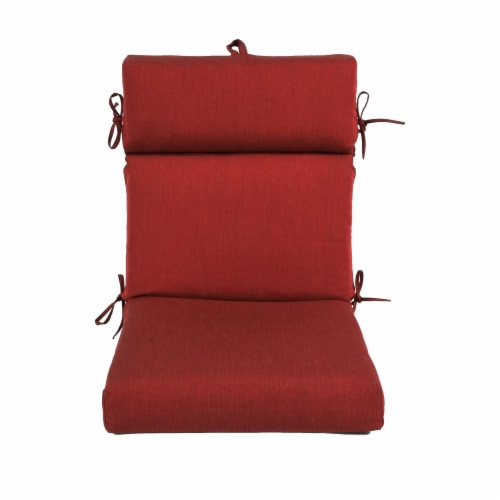 Astella 44 x 21 in. Pacifica Premium Patio Dining Chair Cushion in Caliente Perspective: front