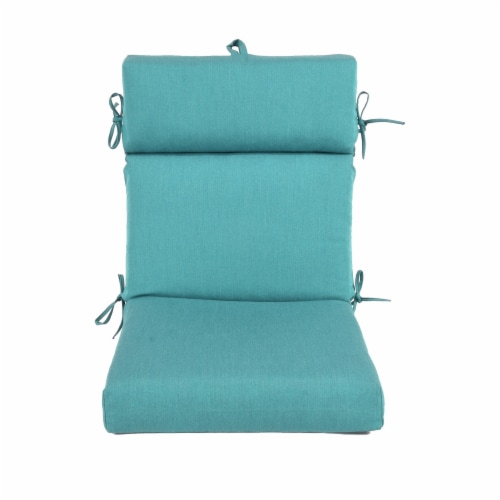 Astella CUDC44-SDA16 44 x 21 in. Pacifica Premium Patio Dining Chair Cushion in Surf Perspective: front