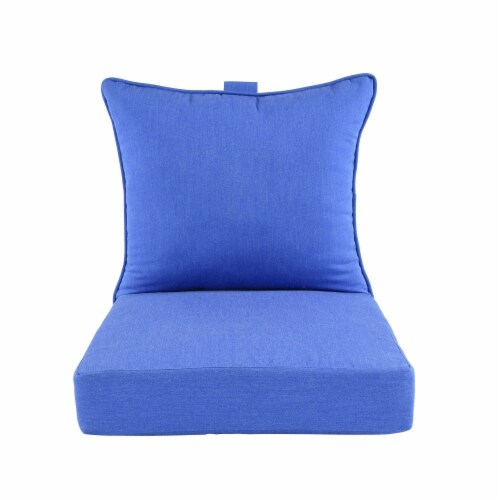Astella 46.5 x 24 in. Pacifica Premium Deep Seat Lounge Cushion in Lapis Perspective: front