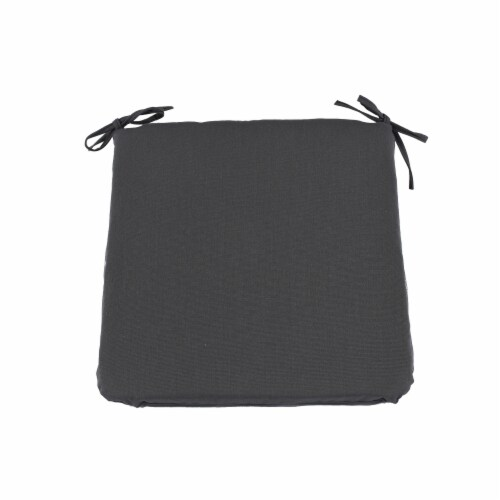 Astella CUSP19-SDA48 18 x 19 in. Pacifica Premium Seat Pad Cushion in Slate, Set of 2 Perspective: front
