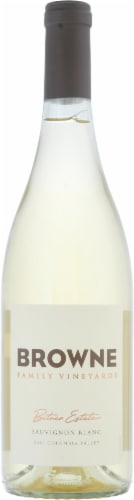 Browne Family Vineyards Sauvignon Blanc Perspective: front