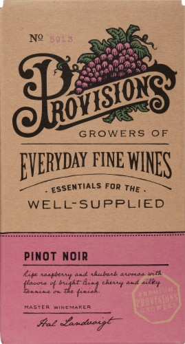 Provisions Pinot Noir Perspective: front