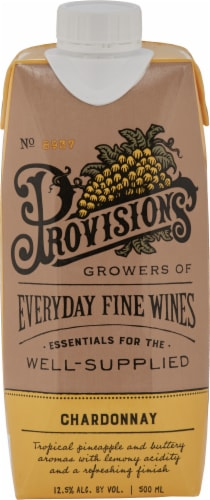 Provisions Wine Chardonnay Perspective: front