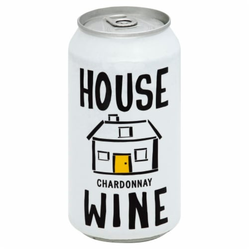 House Wine Chardonnay Can Perspective: front