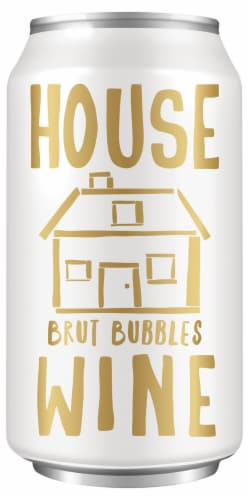 House Wine Brut Bubbles Perspective: front