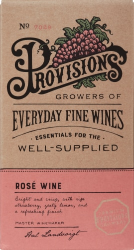 Provisions Wine Rose Perspective: front
