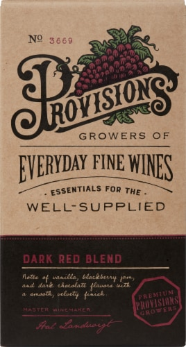 Provisions Dark Red Blend Perspective: front