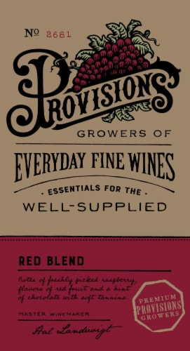 Provisions Red Blend Perspective: front
