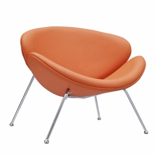 Nutshell Upholstered Vinyl Lounge Chair Perspective: front