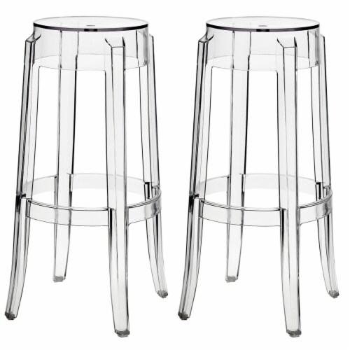 Casper Bar Stool Set of 2 - Clear Perspective: front