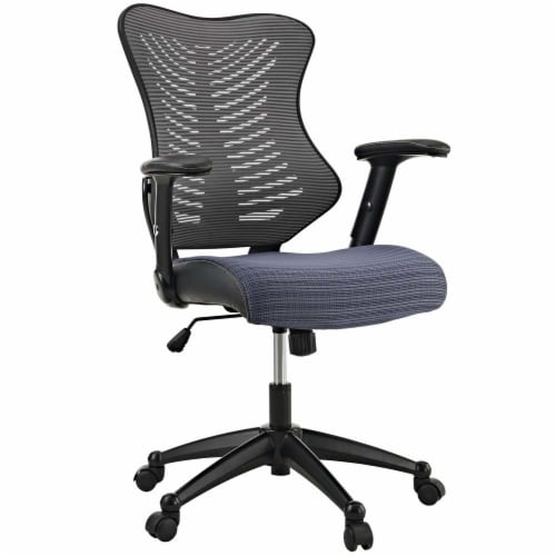 Gray Clutch Office Chair Perspective: front