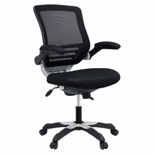 Black Edge Mesh Office Chair Perspective: front