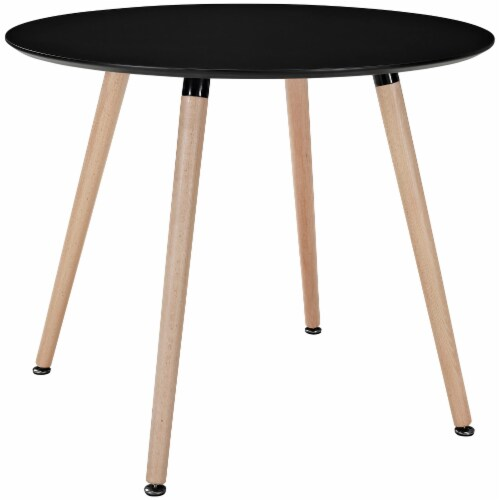 Track Round Dining Table - Black Perspective: front