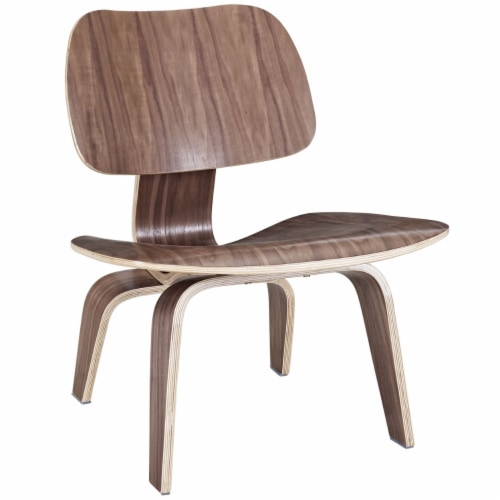 Fathom Wood Lounge Chair, EEI-510-WAL Perspective: front