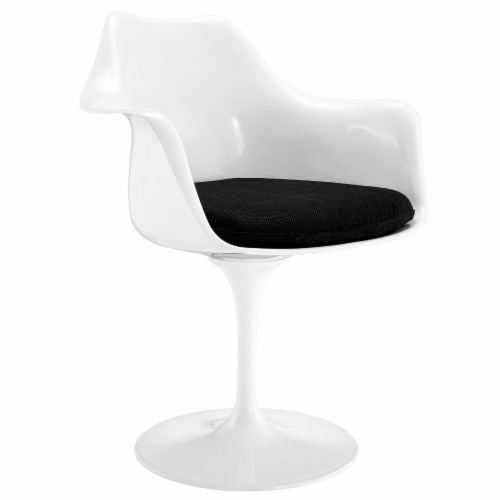 Lippa Dining Fabric Armchair - Black Perspective: front