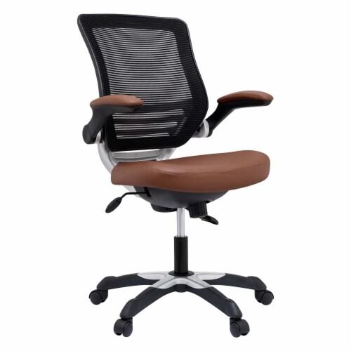 Edge Vinyl Office Chair, EEI-595-TAN Perspective: front