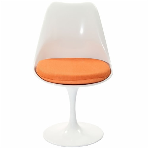 Lippa Dining Fabric Side Chair - Orange Perspective: front