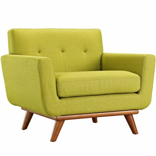 Engage Upholstered Fabric Armchair - Wheatgrass Perspective: front