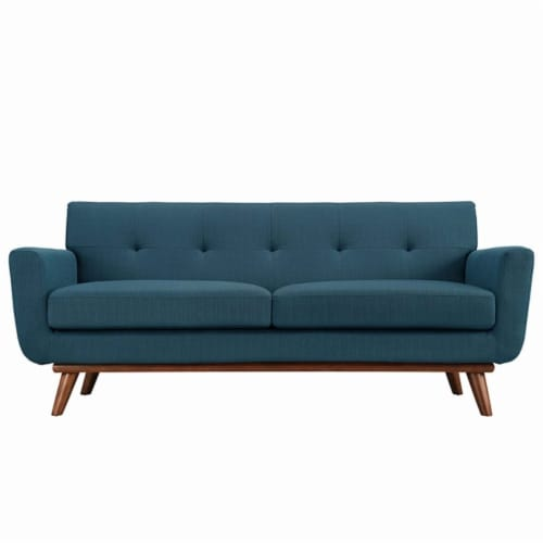 Engage Upholstered Loveseat Perspective: front