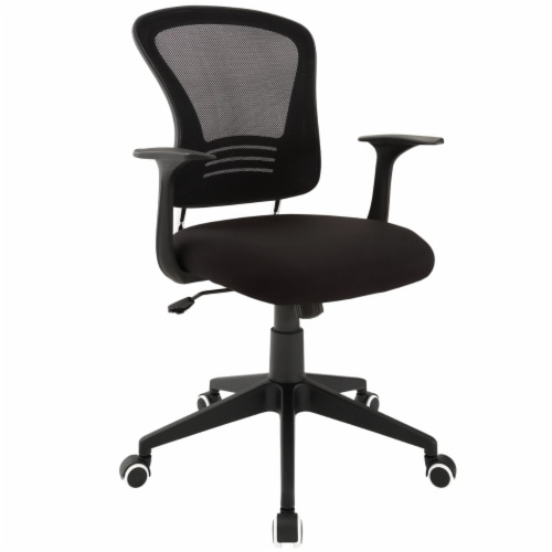 Poise Office Chair - Black Perspective: front